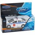 """Машина игрушечная """"FORD FOCUS"""" полиция, 1:36, инерционный механизм, картонная коробка, 49081"""