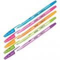 """Ручка шариковая масляная Berlingo """"Tribase Neon"""", синяя, узел 0,7мм, толщина 0,5 мм, CBp_70932"""