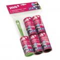 Ролик для чистки одежды York, универсальный для удаления пыли и ворса + 4 сменных блока по 20 листов, 68020