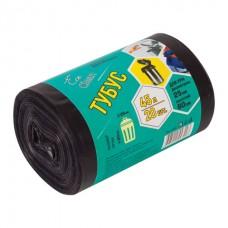 "Мешки для мусора 45 л, черные, в рулоне 20 шт., ПВД, 25 мкм, 42х90 см, для урн, d - 24, h - 66, КОНЦЕПЦИЯ БЫТА ""Tubus"", 3200"