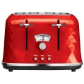 Тостер DELONGHI CTJ2103.R, 900Вт, 2 тоста, разморозка, подогрев, решетка для булочек,