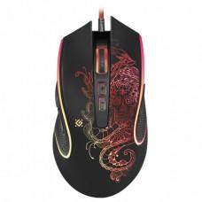 Мышь проводная игровая DEFENDER Venom GM-640L, USB, 7 кнопок+1 колесо-кнопка, оптическая, черная
