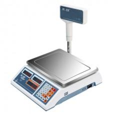 Весы торговые MERCURY M-ER 322ACPX-15.2 LED (0,04-15кг) дискретность 5г, платф.315x235мм, со стойкой