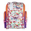 Ранец жесткокаркасный BRAUBERG для начальной школы, девочка, Бабочка в цветах, 36х26х14 см, 226918