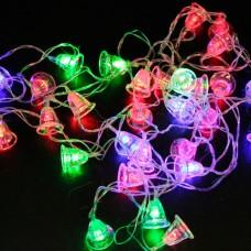 Электрогирлянда светодиодная КОЛОКОЛЬЧИКИ, 20 ламп, 3,5 м, многоцветная, 56803