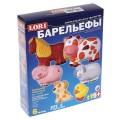 """Набор для отливки барельефов """"Домашние животные"""", 6 форм, гипс, краски, кисть, LORI, Н-022"""