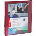 Папка на 4 кольцах с передним прозрачным карманом Berlingo, 65мм, картон/ПВХ, бордовая, до 400 л, ABp_46515
