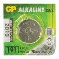 Батарейка GP (Джи-Пи) Alkaline 191 (G8, LR55), 1 штука, в блистере, 1,5В, шк5526