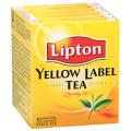 """Чай LIPTON (Липтон) """"Yellow Label"""", черный, 10 пакетиков с ярлычками по 2г"""