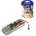 Флэш-диск VERBATIM 16GB Mini Tattoo Edition Dragon, USB 2.0,скорость чтения/записи - 8/2,5 Мб/сек