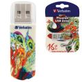 Флэш-диск VERBATIM 16GB Mini Tattoo Edition Phoenix, USB 2.0,скорость чтения/записи - 8/2,5 Мб/сек