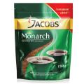 Кофе растворимый JACOBS MONARCH сублимированный, 150г, мягкая упаковка