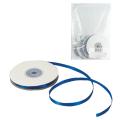 Лента обвязочная атласная для прошивки документов, ширина 6 мм, 4*25м (100м), +/- 5%, СИНЯЯ