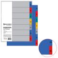 Разделитель пластиковый BRAUBERG А4, 7 листов, по дням Пон-Воск, оглавление, Цветной, РОССИЯ