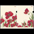 "Папка-уголок с рисунком ""Хатбер"" HD, А4, Red on White, ассорти, 0,18мм"