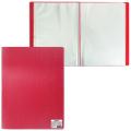 Папка  60 вкладышей STAFF, красная, 0,5мм, 225706