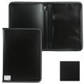 Папка на молнии пластиковая BRAUBERG Contract, А4 335*242мм, внутренний карман, черная