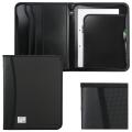 Папка на молнии пластиковая BRAUBERG А4, 350*282*33мм, 2 отделения, 4 кармана, бизнес-класс, черная