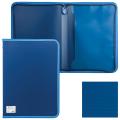 Папка на молнии пластиковая BRAUBERG Сontract, А4 335*242мм, внутренний карман, синяя