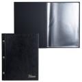 "Папка ""Меню"" на трех винтах, с 10 файлами, 220х320 мм, черная, ""ДПС"", 2273.М-107"