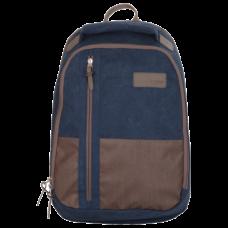 Рюкзак TIGER FAMILY (ТАЙГЕР), универсальный, синий/коричневый, 46*29*17см, 81105A