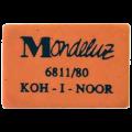"""Резинка стирательная KOH-I-NOOR """"Mondeluz"""", прямоуг, 26x18,5x8мм, оранжевая, картон.дисплей, 6811/80"""