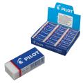 Резинка стирательная PILOT прямоугольная, 45х20х12 мм, белая, виниловая, картон. держ, EE-101