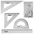 Набор чертежный малый СТАММ (линейка 16 см, 2 угольника,транспортир), тонир. прозрачный, НГ11