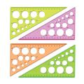 """Треугольник пластик 30*19 см, СТАММ """"Neon Cristal"""", тонированный, прозрачный, неон. ассорти, ТК11"""