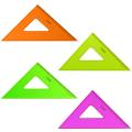 """Треугольник пластик 45*16 см, СТАММ """"Neon Cristal"""", тонированный, прозрачный, неон. ассорти, ТК57"""