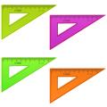 """Треугольник пластик 30*10 см, СТАММ """"Neon"""", тонированный, непрозрачный, неон. ассорти, ТК23"""