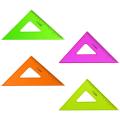 """Треугольник пластик 45*12 см, СТАММ """"Neon Cristal"""", тонированный, прозрачный, неон. ассорти, ТК44"""