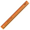 Линейка закройщика пластик 25 см СТАММ, непрозр., оранж, шкала сантиметровая и масштабная 1:4, ЛН61