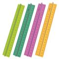 """Линейка пластик 20 см СТАММ """"Neon Cristal"""", с держателем, прозрачная, неон. ассорти, ЛН17"""