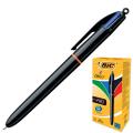 Ручка шариковая автоматическая BIC 4 Colours Pro, 4-цветная, 1мм, линия 0,32мм, син,черн,красн,зел, 902129