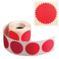 Наклейки для опечатывания любых документов, в т.ч. нотариальных (конгривки),500 штук, 52 мм,красные