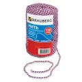 Нить BRAUBERG х/б для прошивки документов, диаметр 1,6 мм, дл. 120 м, смен.блок, ТРИКОЛОР