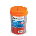 Нить BRAUBERG х/б для прошивки документов, диаметр 1,6 мм, дл. 120 м, в диспенсере, ТРИКОЛОР