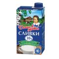 Сливки ДОМИК В ДЕРЕВНЕ жирность 10%, картонная упаковка, 480 г