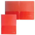 Папка-уголок 2 кармана BRAUBERG, красная, 0,18мм, 224882