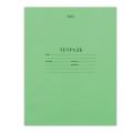 Тетрадь 12 л. зелёная обложка «Хатбер», офсет, узкая линия с полями