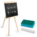 Доска для мела на треноге (42х45 см), с мелком и губкой, черная, ПИФАГОР, 235499