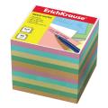 Блок для записей ERICH KRAUSE непроклеенный, куб 9*9*9 см, цветной, 5140