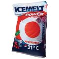 Реагент антигололедный 25кг ICEMELT Power, до -31С, натрий+ингибитор коррозии, мешок, ш/к 10067