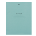 Тетрадь 12 л. зелёная обложка «Хатбер», офсет, линия с полями