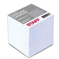 Блок для записей STAFF проклеенный, куб 8*8 см,1000 листов, белый, белизна 90-92%, 120382