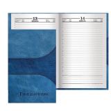Ежедневник BRAUBERG (БРАУБЕРГ) полудатированный на 4 года, А5, 133-205 мм, «Кожа синяя», 192 л., обложка шелк