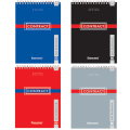 Блокнот BRAUBERG (БРАУБЕРГ), А5, 146-206 мм, 80 л. «CONTRACT» («КОНТРАКТ»), гребень, обложка мелованный картон, клетка (4 вида)