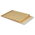 Конверт-пакет В4 объемный, 250х353х40мм, из крафт бумаги с отр.полосой, на 300 листов, 391157