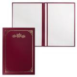 Папка адресная бумвинил с рамкой, формат А4, индивидуальная упаковка, АП4-01-020